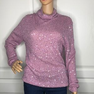 Classifies Entier Bead & Sequin Sweater Size L